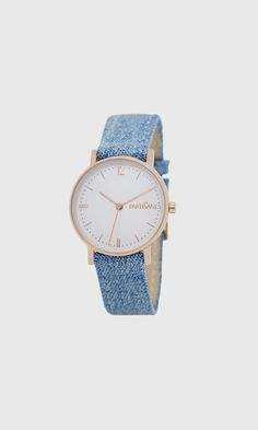 Montre Audacieuse or rose jeans