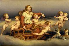 Freyja rides a cat chariot