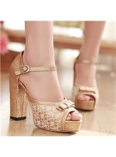GoldenChunky Heels