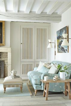 Fabric Panels - Living Room Design Ideas & Pictures - Decorating Ideas (houseandgarden.co.uk)