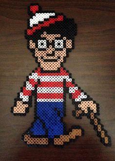 Where's Waldo Inspired 8 Bit Perler Character  Waldo by EBPerler, $16.00