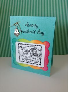 Mothers Day card knitting theme by Melodie