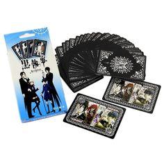 [B] Black Butler Ciel Sebastian Poker Karte Spielekarte Tisch Kartenspiel Game Card