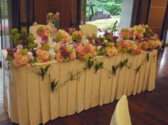 音符 ピンクのアジサイの装花  ホテルニューオータニ アーチェロ様へ