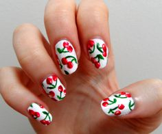 Cherry Nails ~~Funny this is I was just thinking of doing this to my nails today!