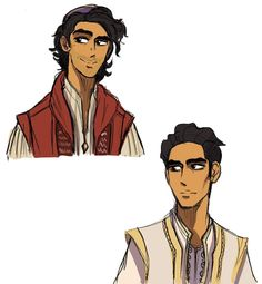 Sketch drawings of Mena Massoud as Aladdin and Prince Ali from Disney's live action movie, Aladdin Disney Princess Jasmine, Aladdin And Jasmine, Disney Fan Art, Disney Pixar, Disney Characters, Aladdin Live, Pocket Princesses, Disney Silhouettes, Princess Art