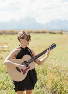 So honored to sing at Ingrid & Viraj's wedding last September in WY!  Photography: Carrie Patterson Photography - carriepattersonphotography.com  Read More: http://www.stylemepretty.com/2014/05/15/rustic-moose-head-ranch-wedding/