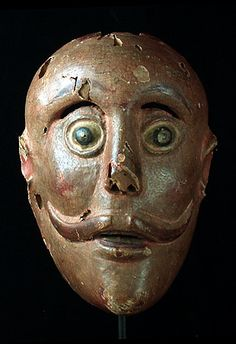 Mexican very old mask, Unknown State, Mexico - in the USA it is hard to imagine the current use of these dance masks but the dances are real & meaningful - for more on Mexico visit www.mainlymexican.com #Mexico #Mexican #mask