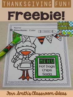 #Free Thanksgiving Coloring Page in the Preview Download! Thanksgiving Fun! Color For Fun Printable Coloring Pages {39 coloring pages equals less than 10 cents a page.} #TPT $Paid