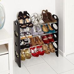 Shoe Rack Stand 4 Tier Free Standing  Storage Organiser