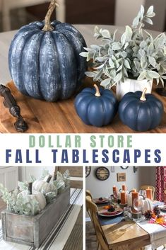 Modern Fall Decor, Fall Home Decor, Fall Table Decor Diy, Dollar Tree Fall, Dollar Tree Crafts, Diy Halloween Decorations, Thanksgiving Decorations, Harvest Decorations, Pumpkin Centerpieces