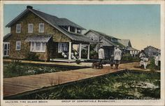 Saltaire, Fire Island Beach Long Island, NY Postcard