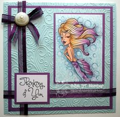 Simply Betty Stamps Flowing Mermaid