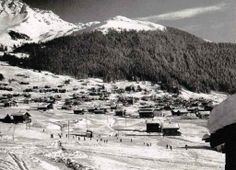 A view across Verbier, with the old Les Moulins poma/T-bar in the for ground. Cheap Accommodation, Le Moulin, Old Pictures, Lodges, Mount Everest, Skiing, Old Things, Glamour, Bar