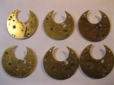 6 Pocket Watch Front Plates Rare Steampunk jewelery by HandzofTime, £7.95
