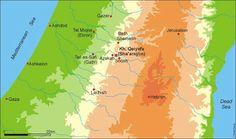 Fig. 2. Mappa che mostra la localizzazione di Khirbet Qeiyafa
