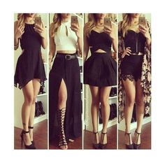 Image in fashion👠👗 collection by Pihla on We Heart It Mode Outfits, Trendy Outfits, Dress Outfits, Fall Outfits, Summer Outfits, Black Outfits, Dress Clothes, Dress Shoes, Outfits For Vegas