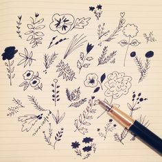 Playing with my fountain pen  by ninacosford
