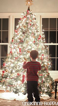 Tutorial to take nice Christmas pictures in front of the tree