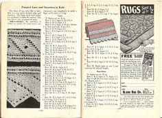 Workbasket knitted lace and insertion (1953) by blueprairie, via Flickr - free pattern