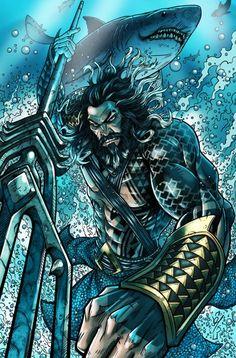 Jason Momoa's Aquaman - comic book style! by Darren Tibbles