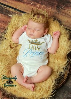 Little Prince embroidered bodysuit -  Baby shower gift - New baby on Etsy, $25.00