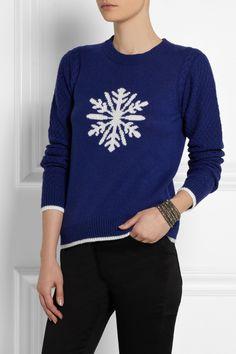 SEA Snowflake-intarsia knitted sweater NET-A-PORTER.COM