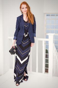 Vestido longo com blazer - JuliaPetit.com.br