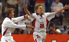 Michael Owen just after scoring his wonder goal France 98