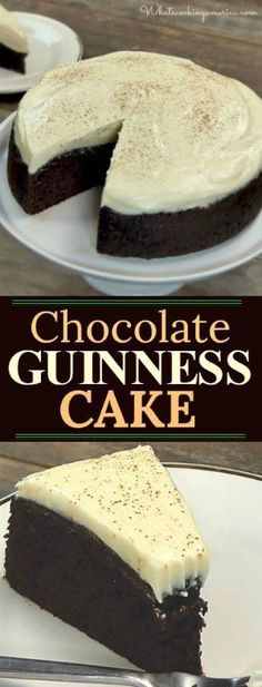 A wonderfully dense and moist cake with a hint of malt. #Guinness #chocolate #cake #stpatricksday