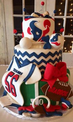 , Baby Shower Cakes Cupcakes Cookies in Houston Texas, Safari Baby Sh. Baby Shower Cupcakes, Shower Cakes, Baby Shower Themes, Baby Boy Shower, Shower Ideas, Houston Texans Cake, Texans Baby Shower, Beautiful Cakes, Amazing Cakes