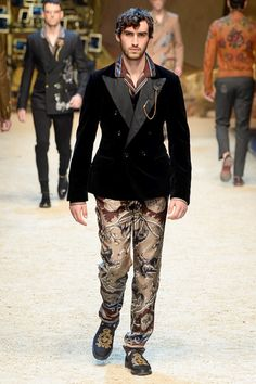 Dolce & Gabbana's Fall 2016 Men's Show