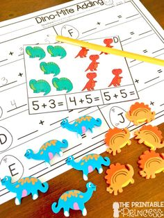 Kindergarten Dinosaur Centers for Math and Literacy Activities - Use this 47 page resource with your Kindergarten classroom or homeschool students. These no prep practice pages are great for literacy centers, math stations, activities, extra practice, review, and much more! Great for remediation, homework, or as an additional center. You get beginning & ending sounds, write the room, sentences, adding, tally marks, graphing, and more. Click through for details.
