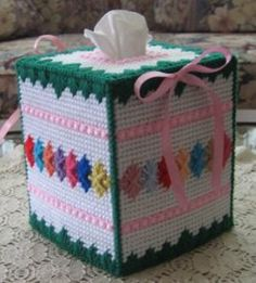 JUST UPDATED!  22 Free Patterns for Plastic Canvas.  Lots of patterns for Tissue Box Covers, projects to give as gifts, and holiday themed plastic canvas.