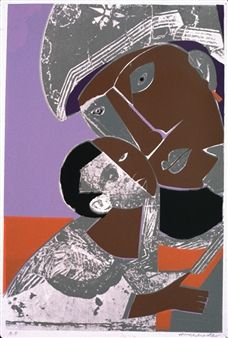 Madonna and Child By Romare Bearden ,1973