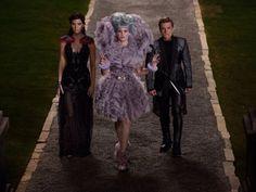 Katniss, Peeta and Effie: catching fire