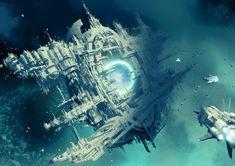 Olivia Black — wh40kartwork: Blackstone Fortress:... Far Future, The Future Is Now, Olivia Black, The Grim, Warhammer 40000, Space Station, Sci Fi Fantasy, Site Design, Motion Design