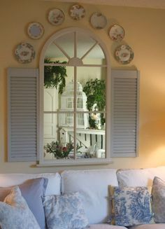 Decorating with Shutters On Pinterest   Decorating / recycled window & shutters