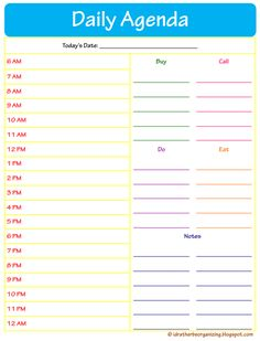Free Week At A Glance Printable  Free Printable DailyWeekly