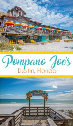 Activity Guide - Pompano Joe's - Destin - Florida - where to eatYou can find Destin florida and more on our website.Activity Guide - Pompano Joe's - Destin - Florida - where to eat Destin Florida Vacation, Fort Walton Beach Florida, Visit Florida, Destin Beach, Florida Travel, Florida Beaches, Beach Trip, Travel Usa, Pensacola Florida