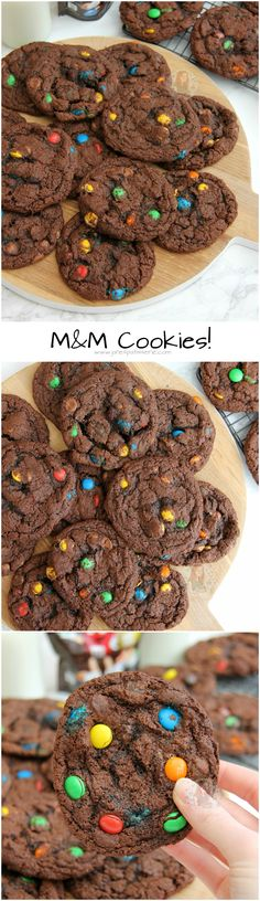 M&M Cookies! Super Easy and Delicious Chewy, Crunchy, Gooey and Chocolatey M&M C. - M&M Cookies! Super Easy and Delicious Chewy, Crunchy, Gooey and Chocolatey M&M Cookies that every C - Delicious Cookie Recipes, Yummy Snacks, Baking Recipes, Sweet Recipes, Yummy Treats, Sweet Treats, Dessert Recipes, Yummy Food, Easter Recipes