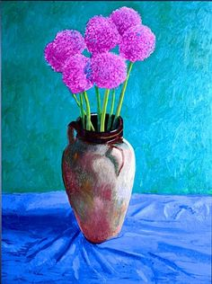 I love this David Hockney painting of my favourite flowers; The colours in the painting are vivid and draw your eye to the showy. David Hockney Ipad, David Hockney Art, David Hockney Paintings, Tamara, Pop Art Movement, Chalk Pastels, Outdoor Art, Painting & Drawing, Encaustic Painting