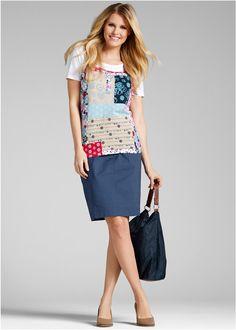Stretchrock indigo - bpc bonprix collection jetzt im Online Shop von bonprix.de ab ? 19,99 bestellen. Mit elastischem Strickbund. Taschen vorn und hinten. ...