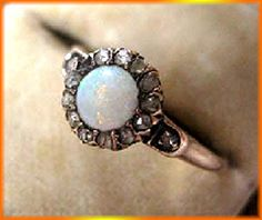 0 75ct Diamond Opal Ring Victorian Style Art Deco Wedding Engagement Anniversary | eBay