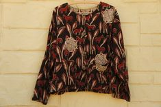 Vintage 90s Handmade Indian Batik Cropped Boxy by SycamoreVintage