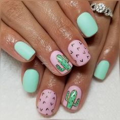 Cute Gel Nails, Fancy Nails, Trendy Nails, Summer Acrylic Nails, Best Acrylic Nails, Acrylic Nail Designs, Nails For Kids, Girls Nails, Tattoo Amigas