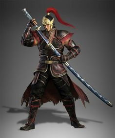 Zhou tai's new design from dynasty warriors 9 Fantasy Warrior, Warrior Concept Art, Fantasy Male, Fantasy Weapons, Anime Fantasy, The Elder Scrolls, Game Character, Character Concept, Character Modeling