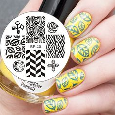 $2.99 Feather & Leaves Pattern Nail Art Stamp Template Image Plate BORN PRETTY BP30 - BornPrettyStore.com