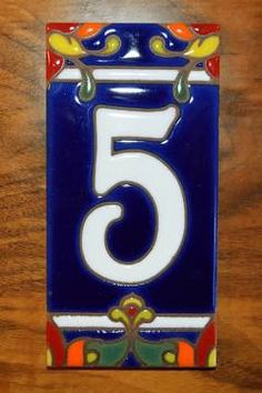 ceramic tile house numbers