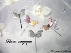 Barrettes papillons irisés multicolores  Disponibles sur http://ift.tt/2dl0JKO   Les secrets d'Aléna  - Marque déposée - Toute reproduction est interdite